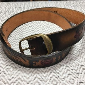Other - Men's Handcrafted Leather Firefighter Belt 42""